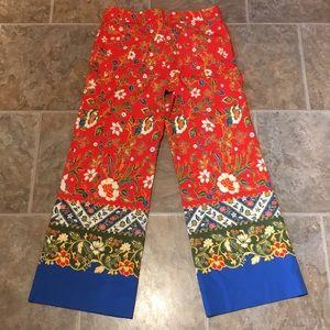 Tory Burch Pants - Tory Burch Samba Batik Flower Dayton Cropped Pants